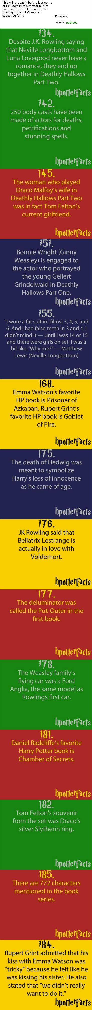 Harry potter facts. I find it interesting that Daniel, Emma, and Rupert's favorite HP books are earlier in the series.