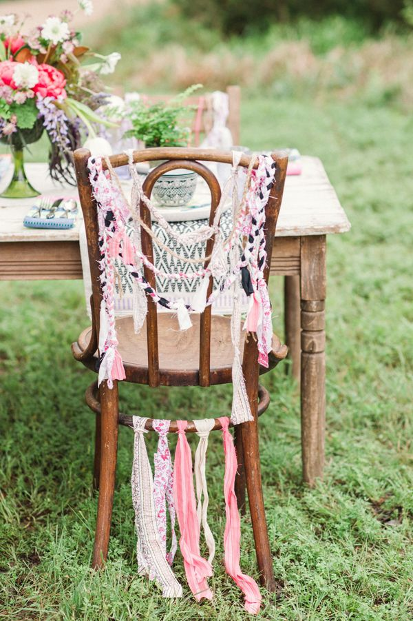 bohemian inspired chair back, photo by Lindsey Stump Photography http://ruffledblog.com/austin-styled-bridal-session #weddingideas #chairbacks #boho