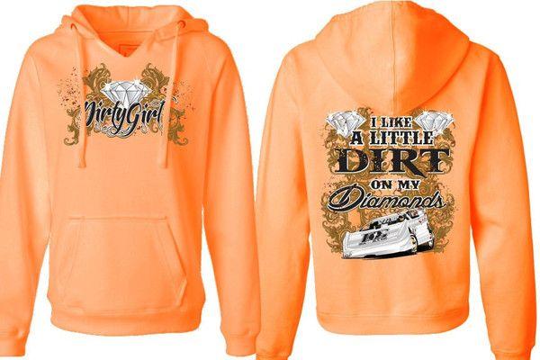 """Dirt on My Diamonds"" Dirt Late Model Racing V-Neck Hoodie Like this."