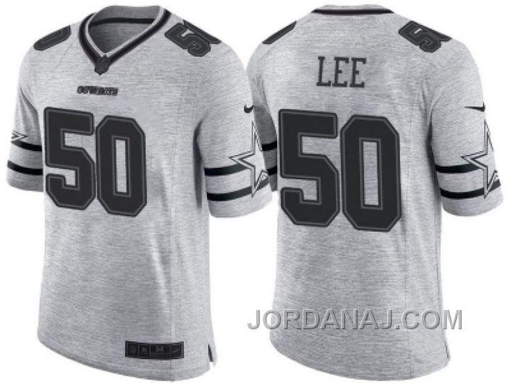 Nike Dallas Cowboys #50 Sean Lee 2016 Gridiron Gray II Men's NFL  Limited Jersey
