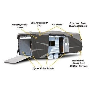 Adco 52274 Designer Series SFS Aqua Shed Toy Hauler RV Cover - gray pattern