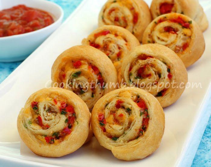 Pepper Jalapeno Cheese Pinwheels