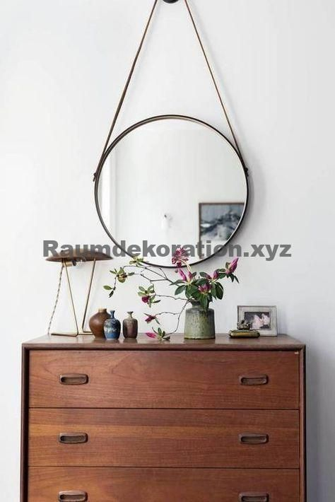 great unbelievable Home Accessories – Hallway Design with Dresser and Round Mirror, Retro, Hall, Living, Home, Egg #accessories #deko #dekoration #Fl