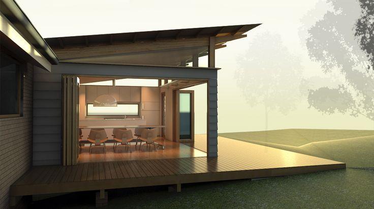 Skillion roof side profile
