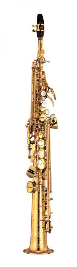 YSS-875EX Bb Soprano Saxophone - A sax that will take you to the top...  Yamaha Custom EX sopranos are an improved version of the classic YSS-875, already considered by many to be the finest soprano saxes ever made. The new design with its G2 neck offers even broader expressive capabilities with wide dynamics, precise intonation, and a gorgeous sound with rich harmonics. The YSS-875EX comes with two necks - one straight and one curving - to suit different playing preferences.
