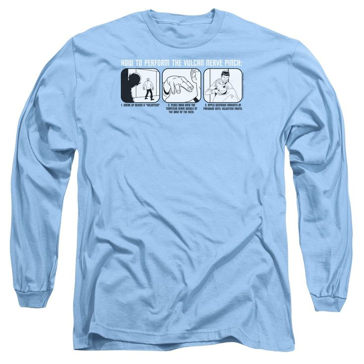 """Checkout our #LicensedGear products FREE SHIPPING + 10% OFF Coupon Code """"Official"""" St:original / Vulcan Nerve Pinch - Long Sleeve Adult 18 / 1 - St:original / Vulcan Nerve Pinch - Long Sleeve Adult 18 / 1 - Price: $29.99. Buy now at https://officiallylicensedgear.com/st-original-vulcan-nerve-pinch-long-sleeve-adult-18-1"""