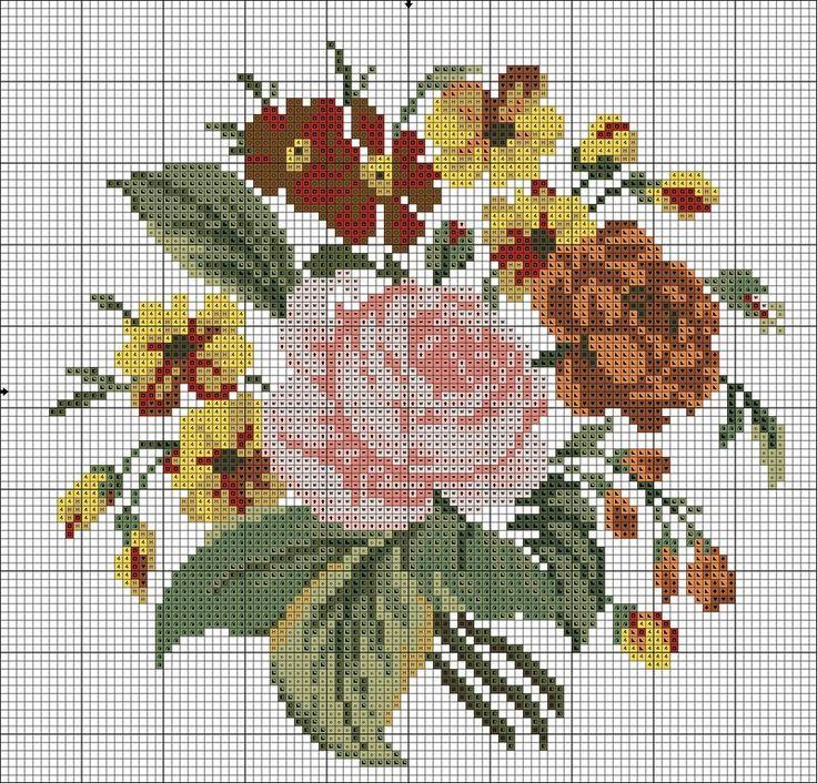 Resultado de imagen para flowers cross stitch