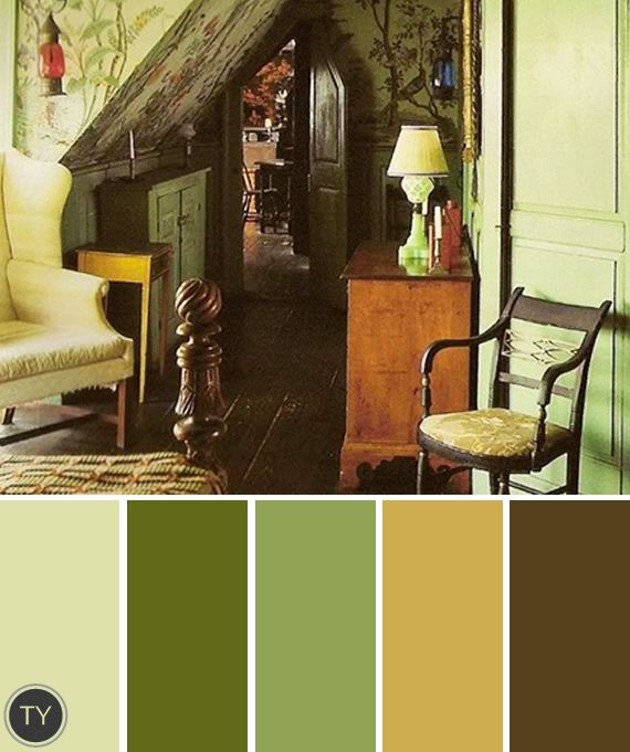 Vintage Colour Palette, Wall Color Schemes, Brown