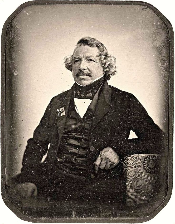 Daguerreotype of Louis Daguerre, invertor of the daguerreotype process  - taken by Jean-Baptiste Sabatier-Blot in 1844