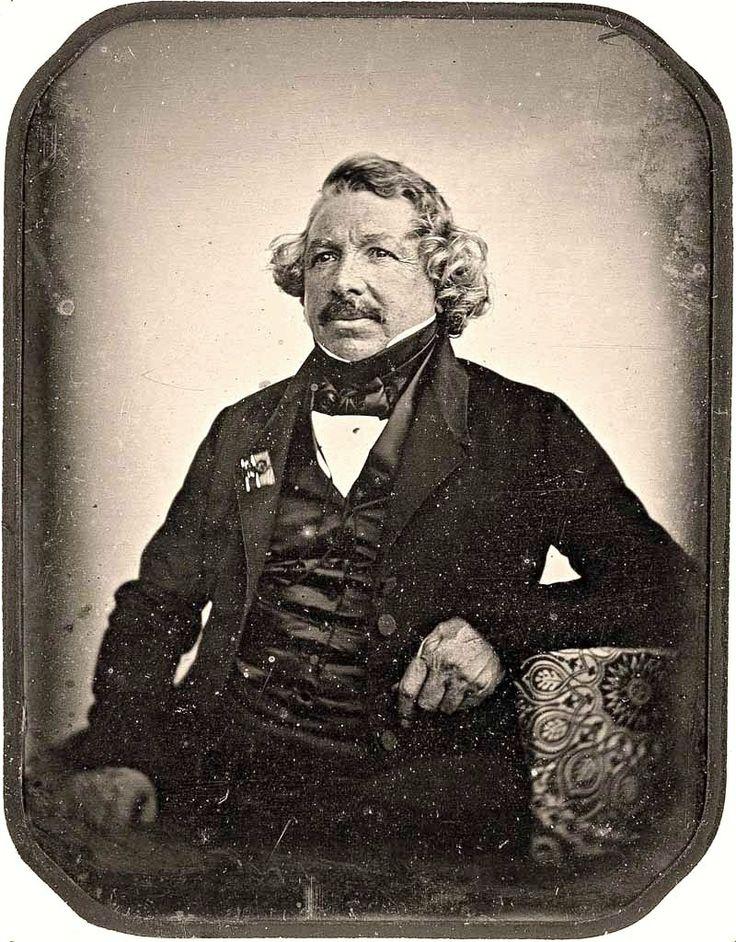 Daguerreotype of Louis Daguerre, invertor of the daguerreotype process - taken…