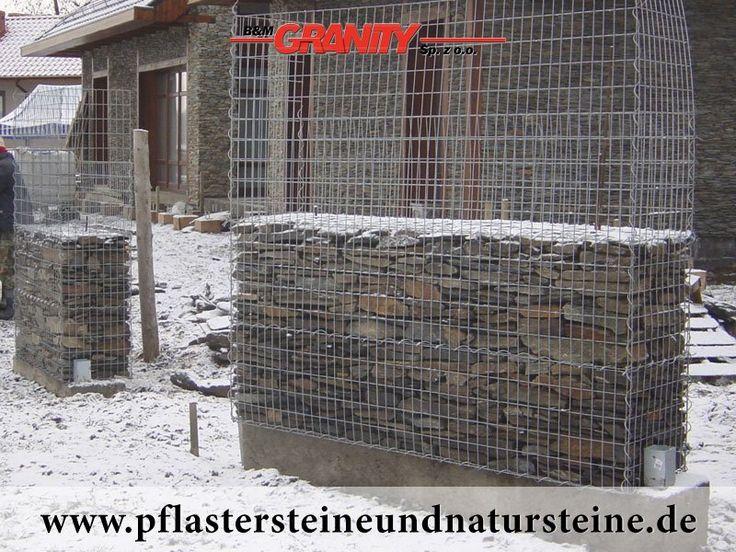 Firma B&M GRANITY-Frostbeständige Natursteine (Schiefer) aus Polen für Gabionen…