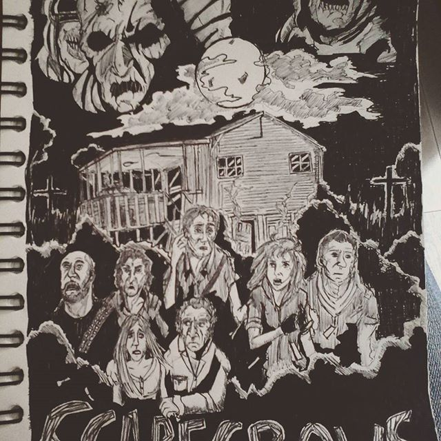 """""""When it comes to terror...They're in a field of their own""""  Finally, my illustration of the 1988 horror movie Scarecrows ! Really cool movie ! :D   Enjoy ! :)  #art #artwork #draw #drawing #illustrations #fanart #pencildrawing #inkdrawing #horror #scarecrow #monster #scary #movie #mercenaries #pyschological #cornfield #darkart #fridayart #music #crazylixx"""