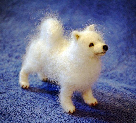 Samoyed  Needle Felted Dog Portrait by http://furrymemory.com/ on Etsy