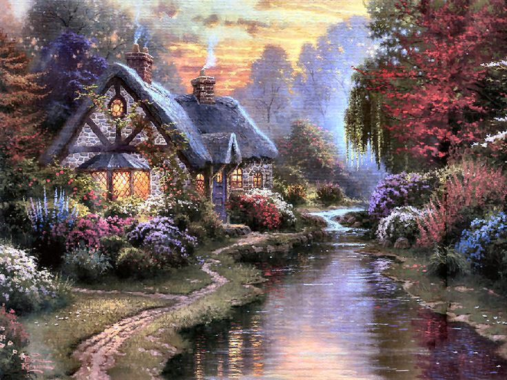 Cottage Evening ~ Thomas Kinkade