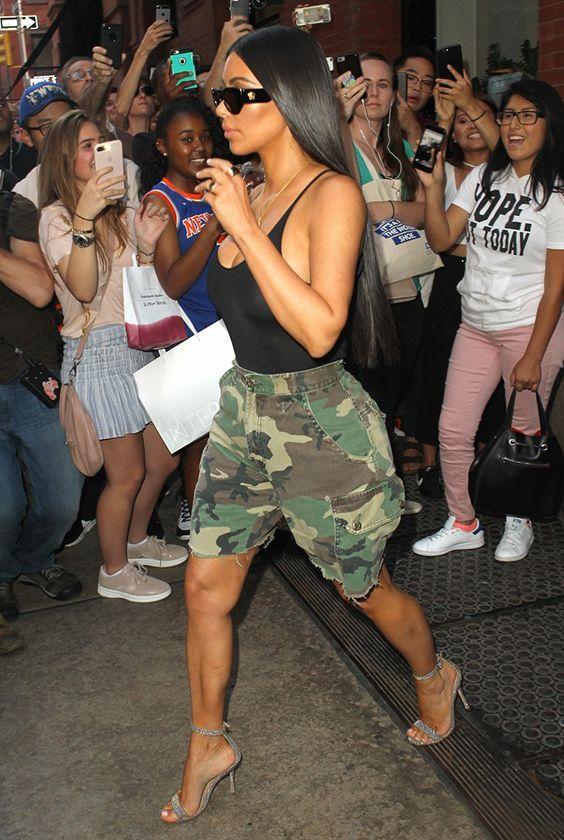 Kim Kardashian Put Two Shoe Trends Into Practice