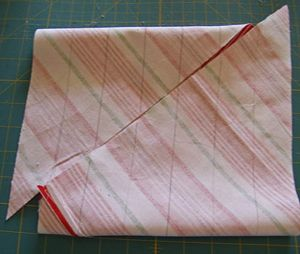 How to easily make a continuous strip of bias tape...this is super easy and you'd be surprised at how much bias tape it makes!