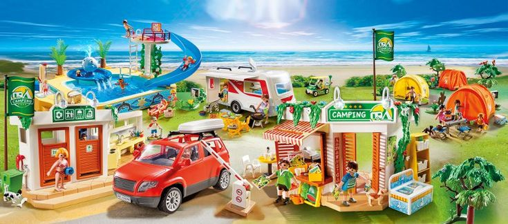 PLAYMOBIL 4859 Grand Camping-Car Familial - Achat / Vente univers miniature - Cadeaux de Noël Cdiscount