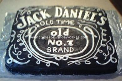 Homemade Jack Daniels Birthday Cake: I made this Jack Daniels Birthday Cake for a good friend of mine who is a die hard Jack fan, it was his 50th birthday.  This was one of my first cakes