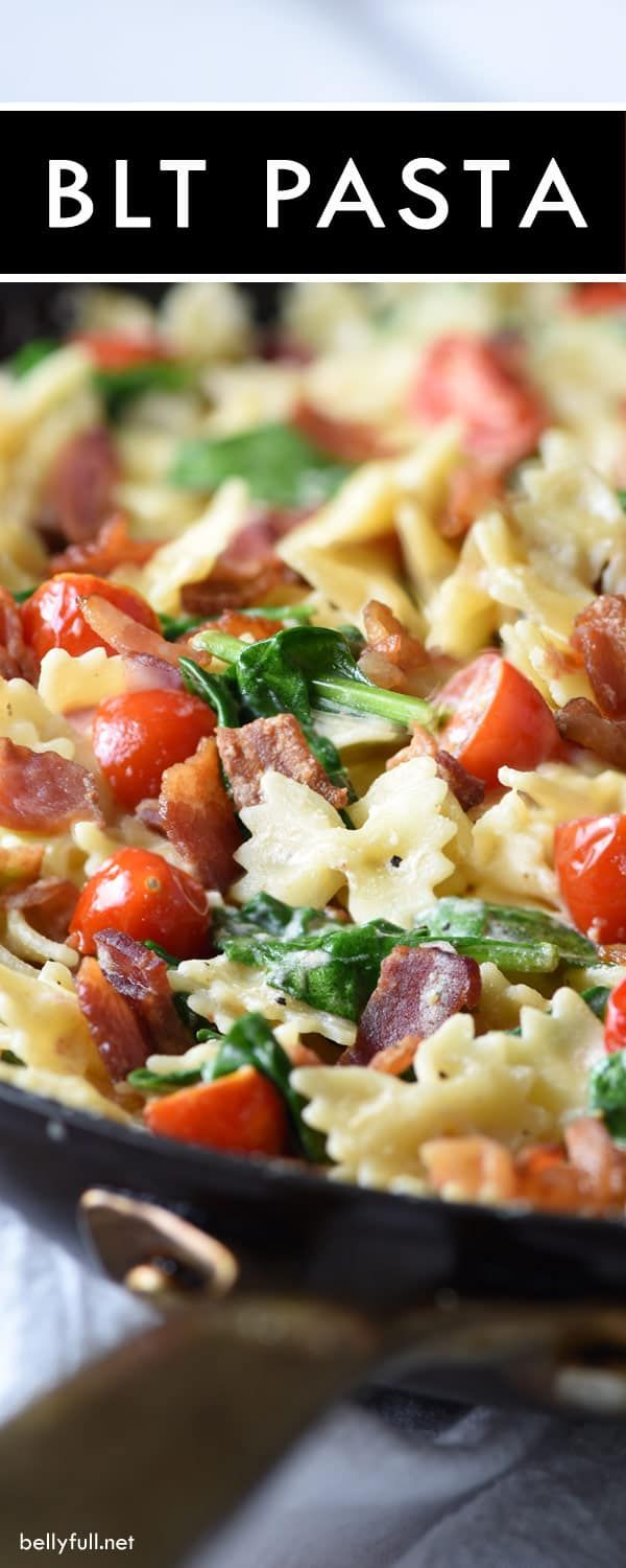 This BLT Pasta is a fun twist on everyone's favorite classic sandwich. Easy and delicious 30 minute meal, perfect for busy weeknights!