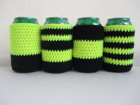 29 Best Can Koozies Images On Pinterest Hand Crafts Knit Crochet