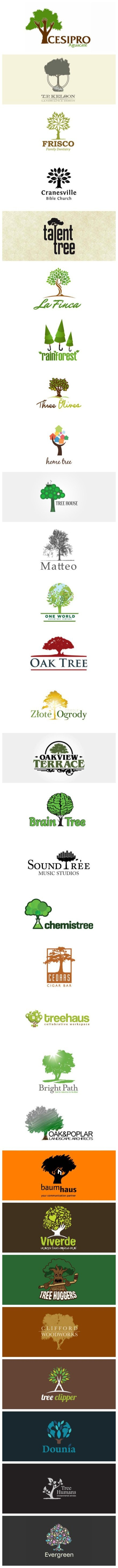 A range of the best tree logos from around the world! #logoswithtrees