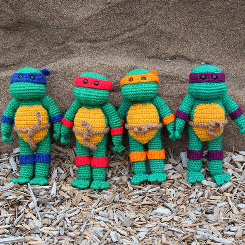 Knitting Pattern For Ninja Turtles : 208 best images about Free Amigurumi Pattern on Pinterest ...