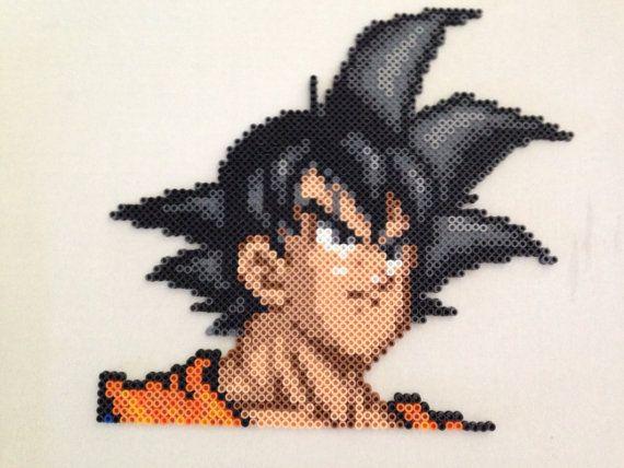 Dragon Ball Z Goku Perler Bead Sprite par RatedEforEveryone sur Etsy