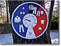 """Teaching Temperature and how to dress for it -         This Apparel Indicating Thermometer is a wonderful """"Visual aid"""" to help teach your child the important (and sometimes life saving) skill of dressing correctly for different temperatures."""