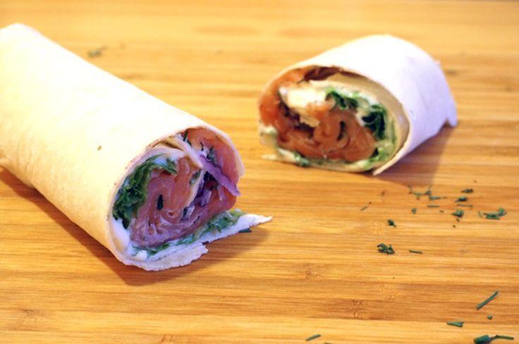 wrap de salmão defumado – Francinha Cooks