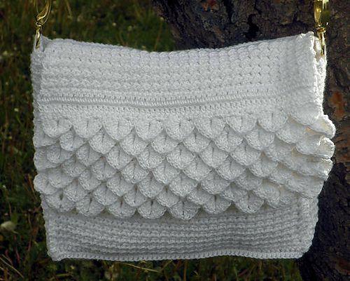 Free Crochet Pattern Crocodile Stitch Bag : Pin by Anita Jacobson on Hooked on Crochet - Bags Pinterest