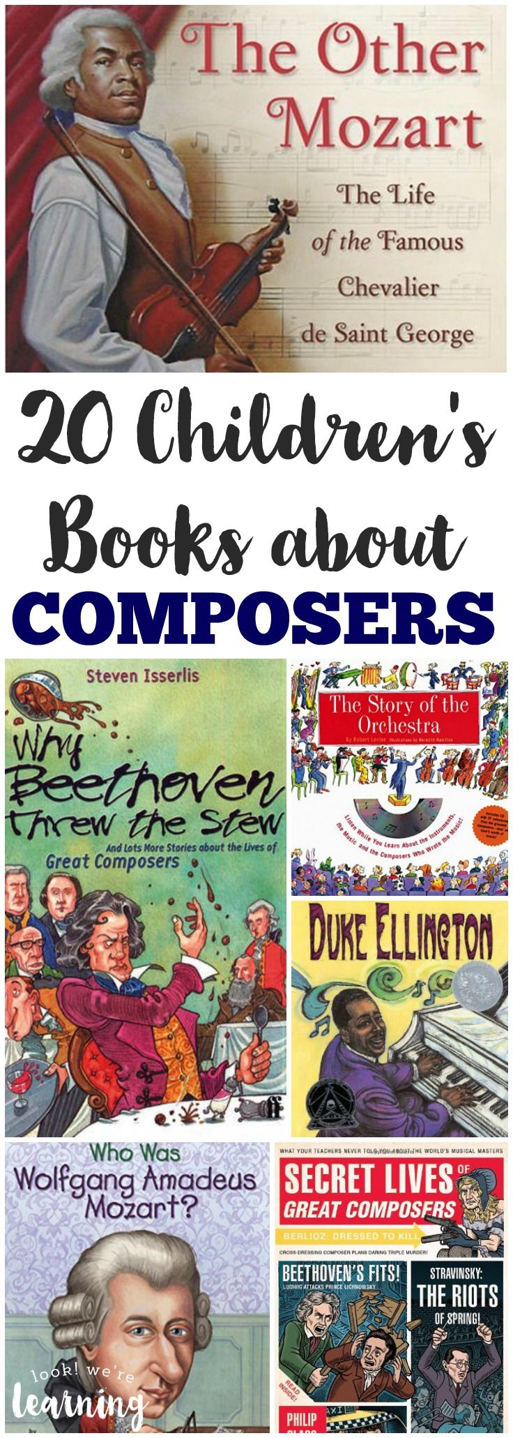 Learn about music history as a family with these gorgeous children's books about composers! #homeschooling #reading