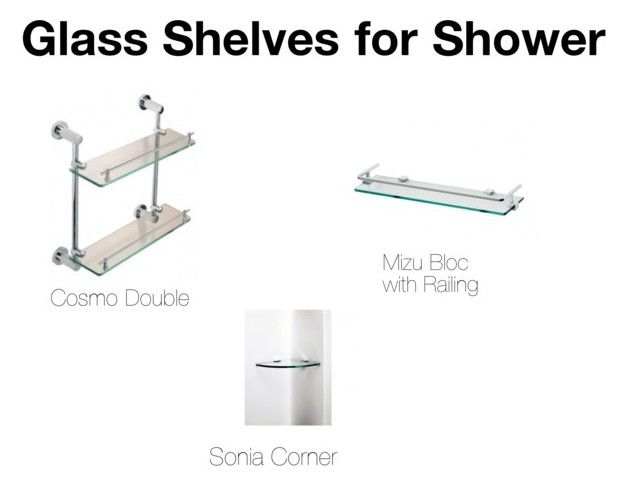 """""""Glass Shelves for Shower"""" by insideout1 on Polyvore featuring interior, interiors, interior design, home, home decor, interior decorating and Mizu"""