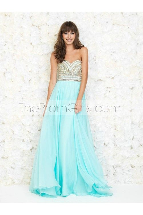 2015 New Arrival Prom Gown A-Line Sweetheart Sweep/Brush Chiffon With BeadingRhinestone - Shop Prom