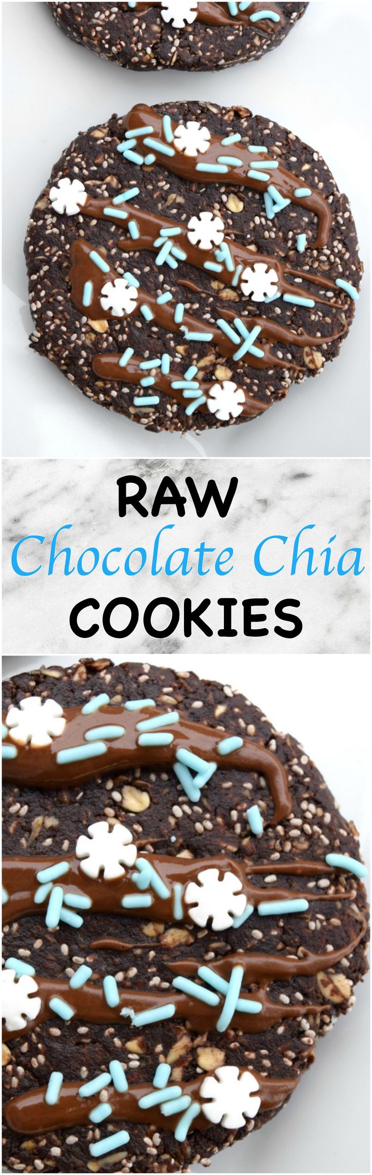 Quick and easy chocolate chia cookies! PERFECT for breakfast, a snack or dessert!