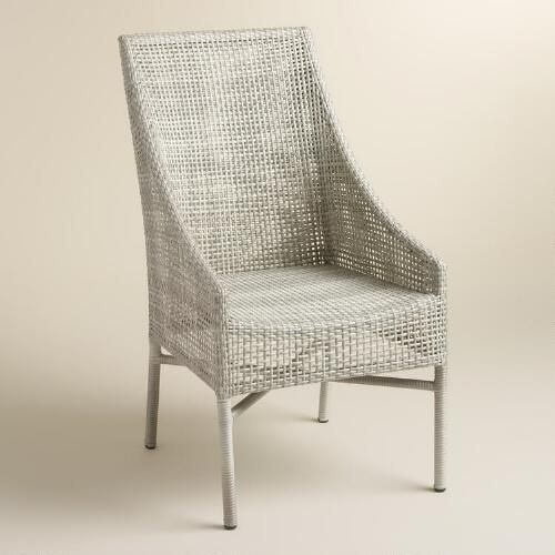 Contemporary Grey Wicker Chairs Rustic Gray All Weather Serasa To Design Inspiration
