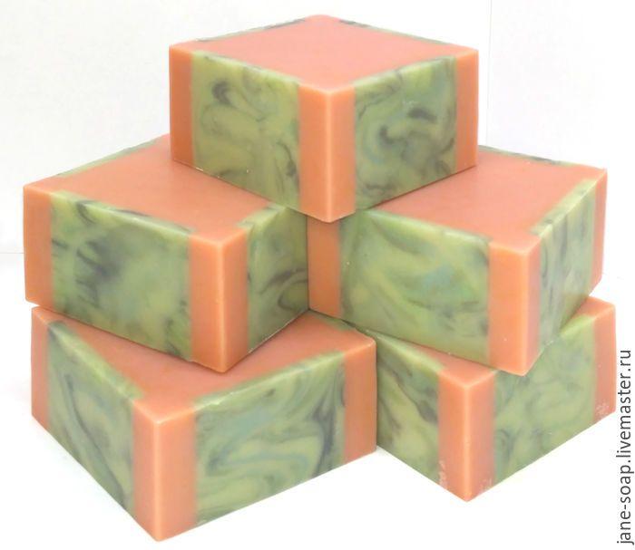 Мыло с нуля «Арбуз» , ХС. - мыло с нуля, мыло натуральное с нуля, банное мыло