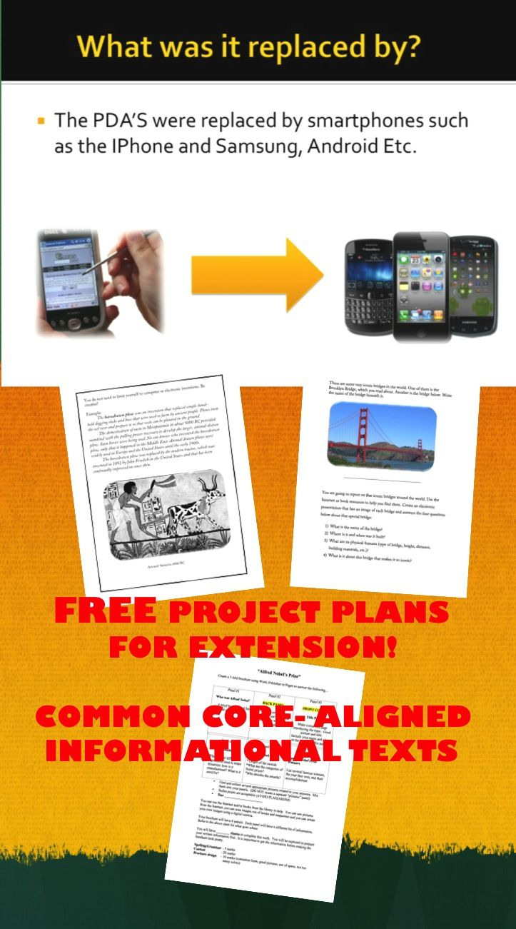 FREE! This is a set of THREE different projects created to allow for extended learning based on the non-fiction reading and work done by students.