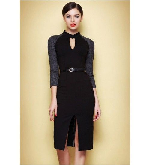 www.fashionparadiso.com , Vintage Split Thin Sexy Black Dress is Hot Selling at MsFairy.com ✿ ☂  ☂  ✿