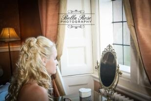 Bride's last few moments before getting married!