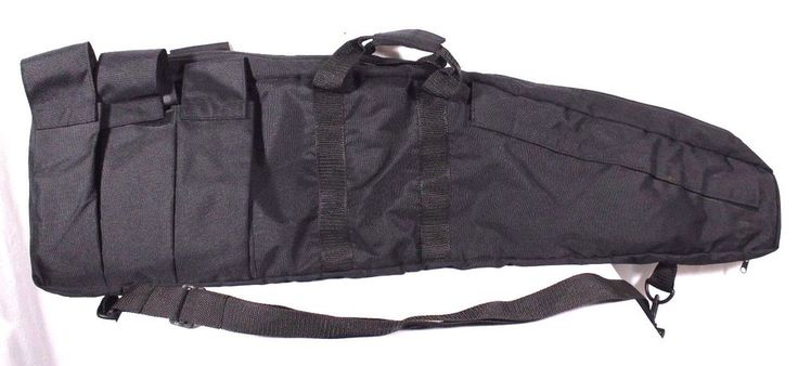 """42"""" Black Nylon Rifle Tactical Gun Case Soft Sided Hunting Gear Clip Pockets #Unknown"""