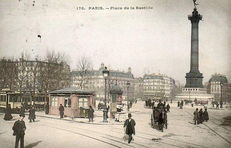 place de la Bastille - Paris 4ème/11ème/12ème   La place de la Bastille, vers 1900.