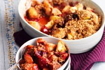 Spiced apple and plum crumble – Recipes – Slimming World