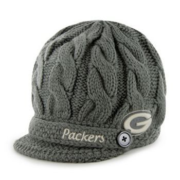cable knit Packers hat - so cute!