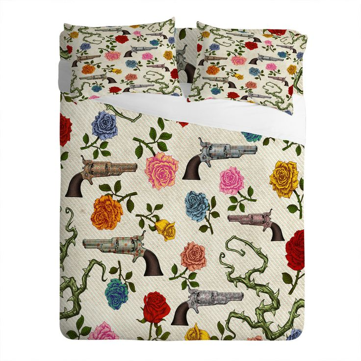 Belle13 Sweet Guns And Roses Sheet Set | DENY Designs Home Accessories