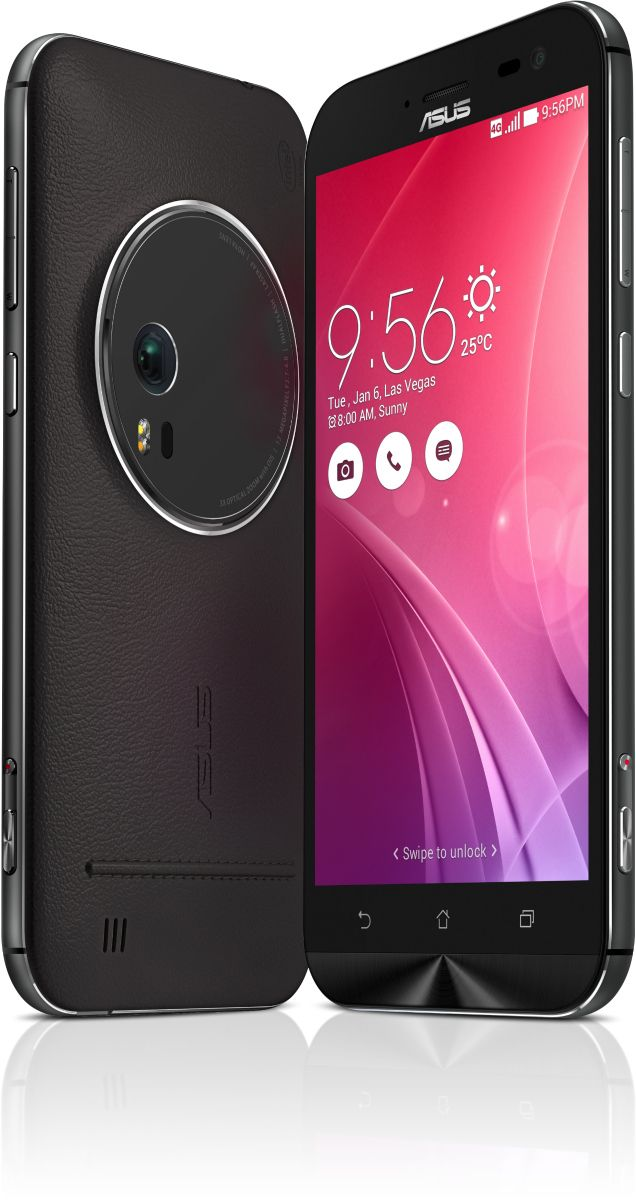 ASUS ZenFone Zoom is the world's thinnest 3x optical-zoom smartphone with an innovative 10-element HOYA lens arrangement | 64-bit 2.5GHz Super Quad-Core Intel® Atom™ Z3590 processor