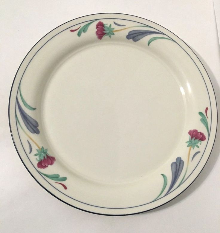 "Lenox Chinastone Poppies On Blue 10.75"" Round Dinner Plate (s) #Lenox"