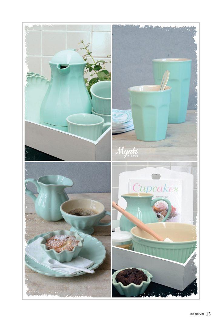 Piękne, miętowe akcesoria kuchenne firmy Ib Laursen. Znajdziesz je w sklepie smukke.pl http://www.smukke.pl/pl/p/MISECZKA-CERAMICZNA-MIETA/222