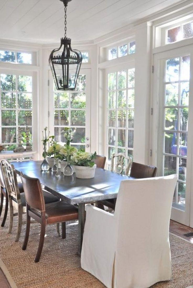 Elegant Sunroom Dining Room Nice Design