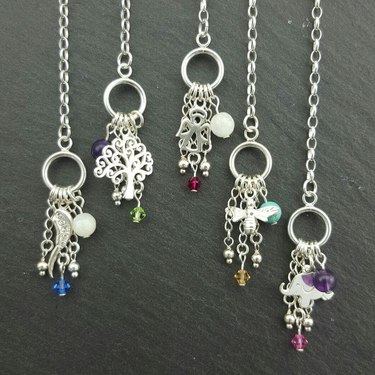 New Collection of Sterling Silver Charm Birthstone Bracelets with choice of Gemstone, Amethyst, Turquoise or Moonstone