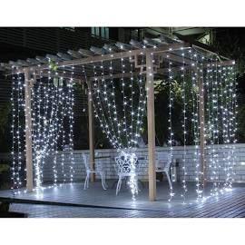 LE 9.8*9.8ft LED Curtain Window Lights, Daylight White, 8 Modes